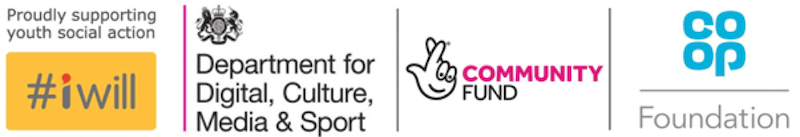 Funded by #iwill, Department for Digital, Culture, Media & Sport, National Lottery and The Co-op Foundation